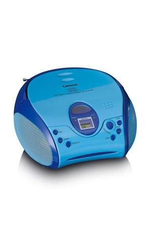 SCD-24BU KIDS Draagbare stereo FM radio met CD-speler - Blauw