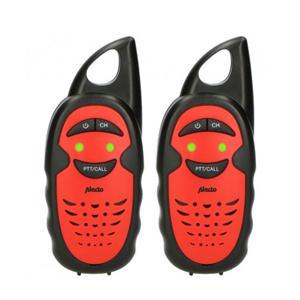 FR-05RD Set van twee walkie talkies voor kinderen - zwart/rood
