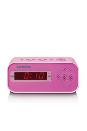 CR-205PK Wekkerradio met dual alarm - roze