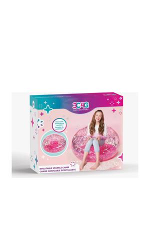 Pink Confetti opblaasbare stoel