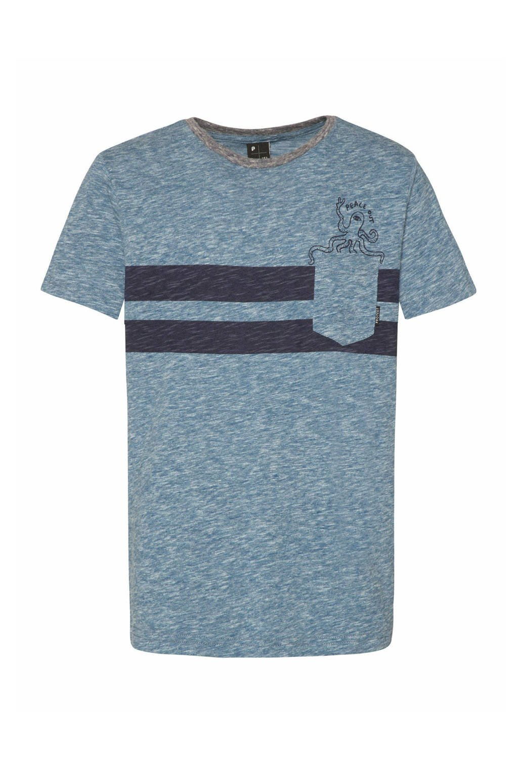 Protest T-shirt Globe blauw, Airforces