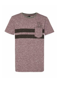 Protest T-shirt Globe bruin, Marron Fabric
