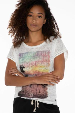 T-shirt Elles wit