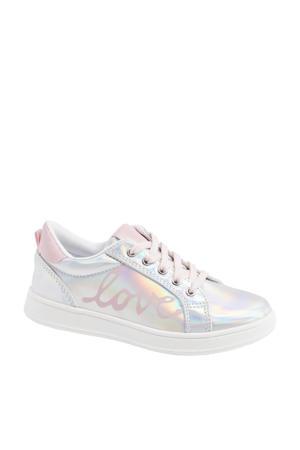 sneakers zilver/roze