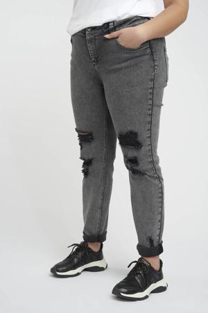 mom jeans grijs bleached/zwart