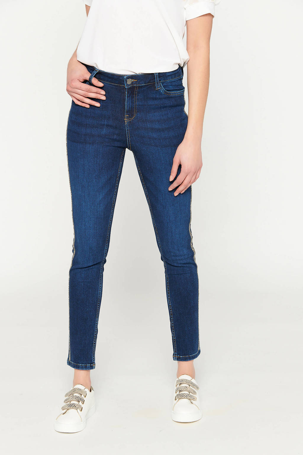LOLALIZA skinny jeans donkerblauw, Donkerblauw