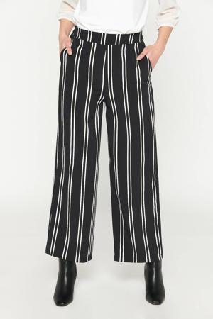 gestreepte loose fit broek zwart
