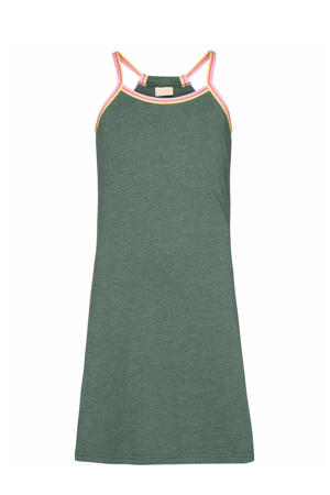 jurk Sylvia groen/roze