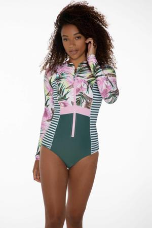 surfsuit Ally groen/roze