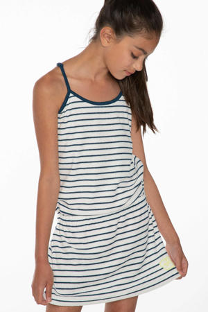 jurk Ellen wit/blauw
