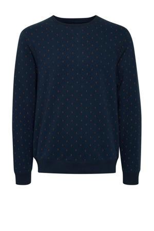 sweater met all over print dress blues