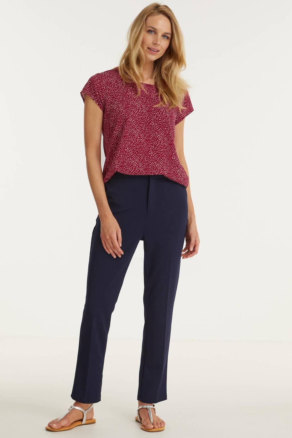 Imagine broek met elastische inzet navy, Donkerblauw