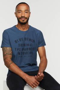 Blend T-shirt met tekst 194026-ensign blue, 194026-Ensign Blue