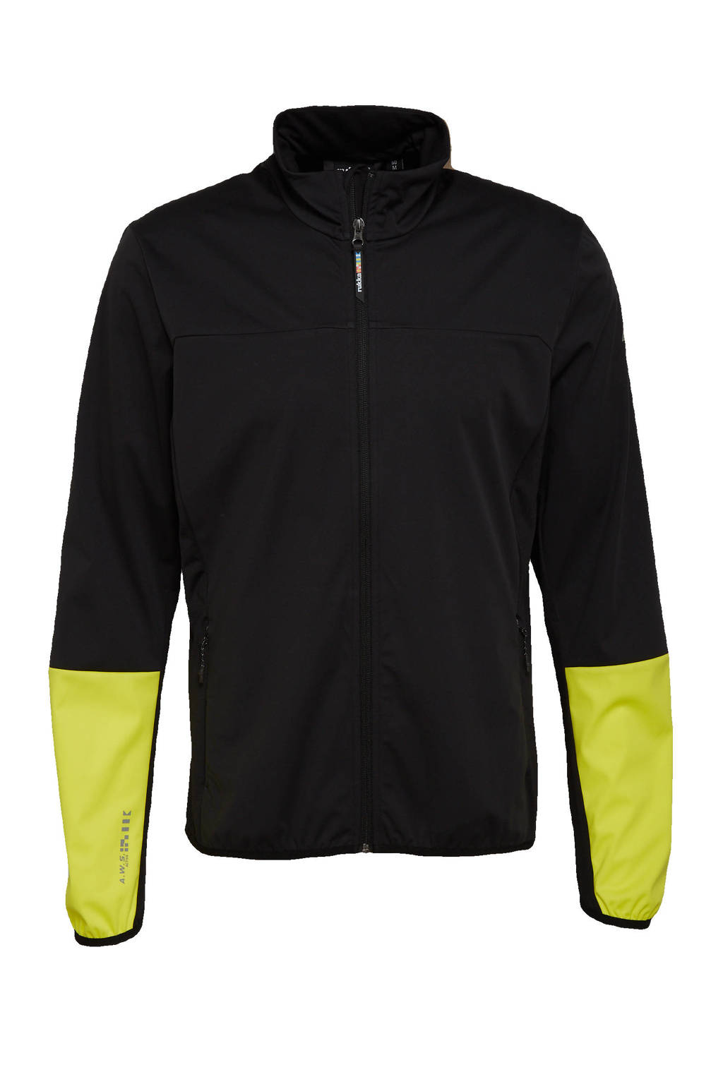 Rukka hardloopjack Metviko zwart/geel, Zwart/geel