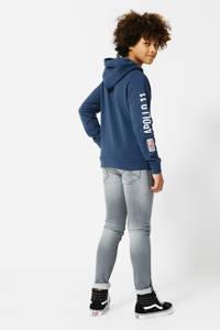 America Today Junior hoodie Nasa Semuel met tekst kobalt/wit