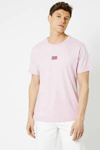 America Today T-shirt met borduursels light pink, Light Pink