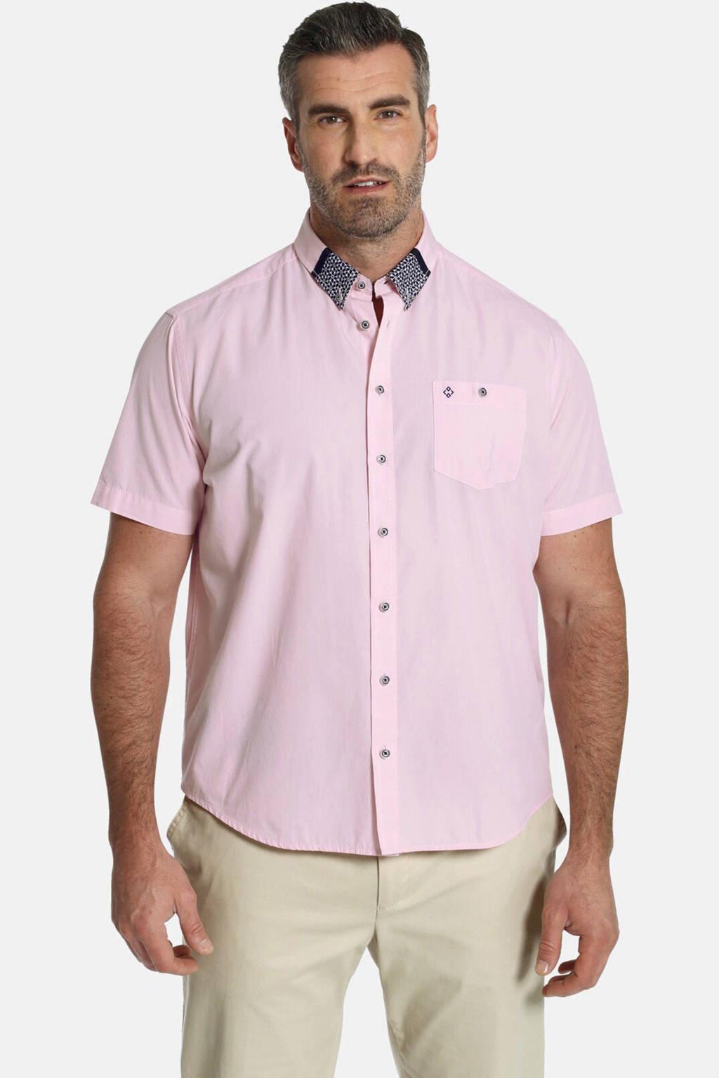 Charles Colby oversized overhemd DUKE GRAYSON Plus Size roodroze, Roodroze