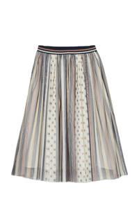 C&A Smart & Pretty rok met all over print en mesh beige/lichtbruin/ecru, Beige/lichtbruin/ecru