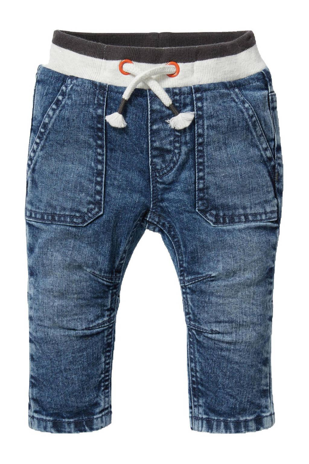 C&A Baby Club baby slim fit jeans bermuda blauw, Blauw