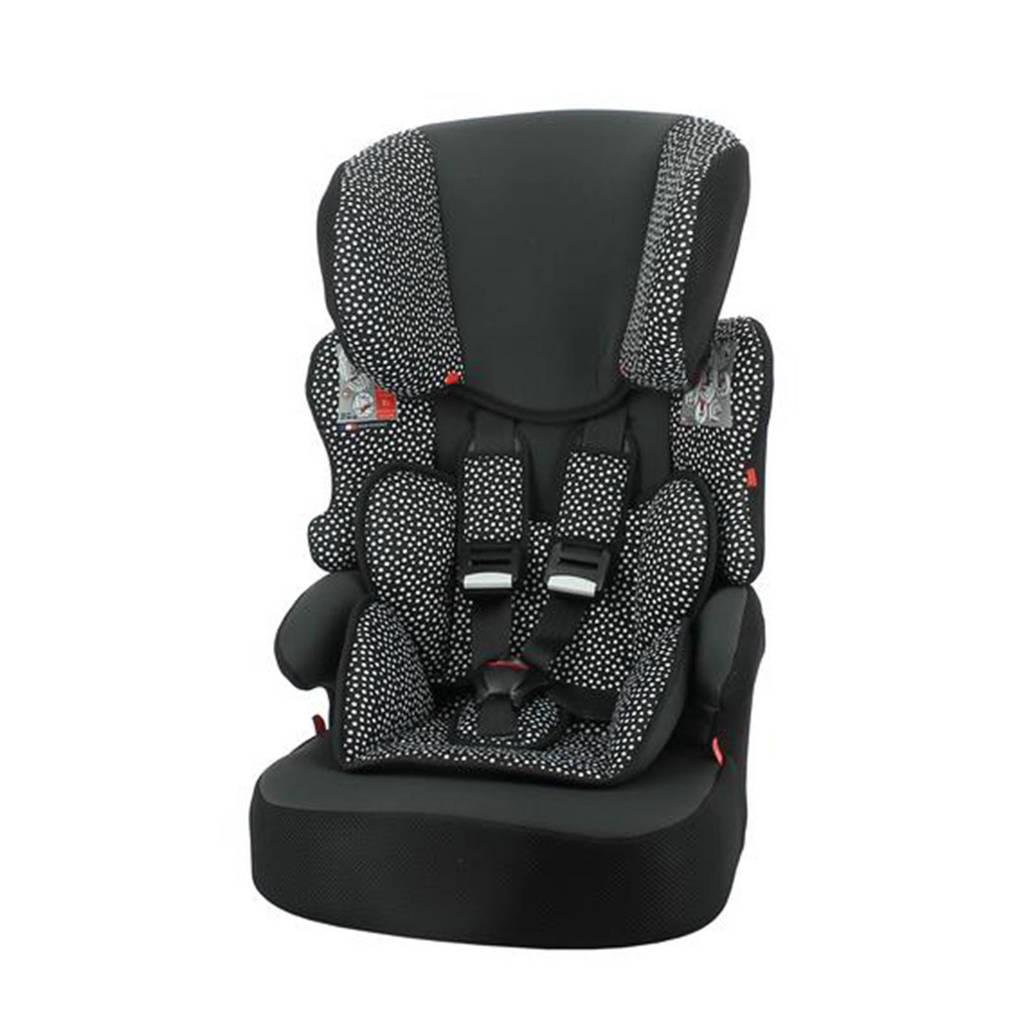 HEMA autostoel doorgroei 9-36kg zwart/witte stip, Zwart/stip