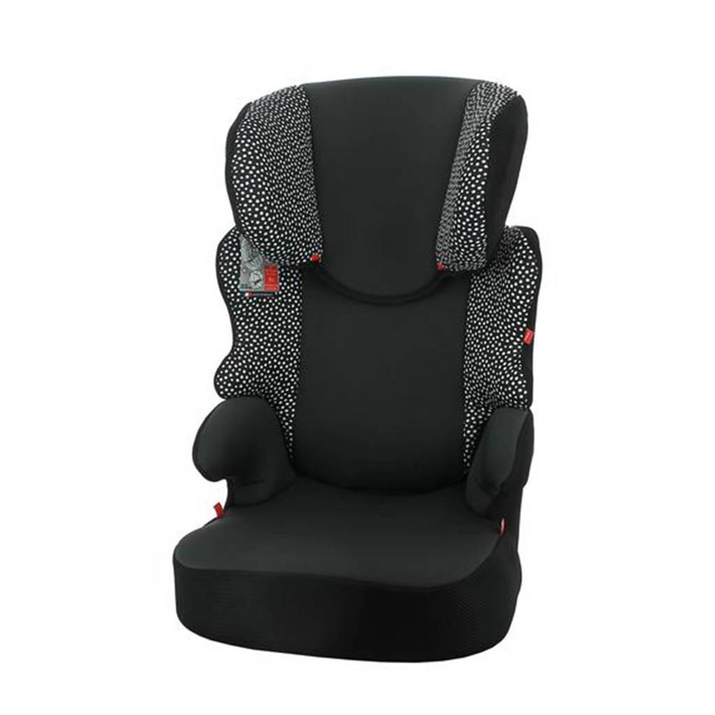 HEMA autostoel junior 15-36kg zwart/witte stip, Zwart/stip