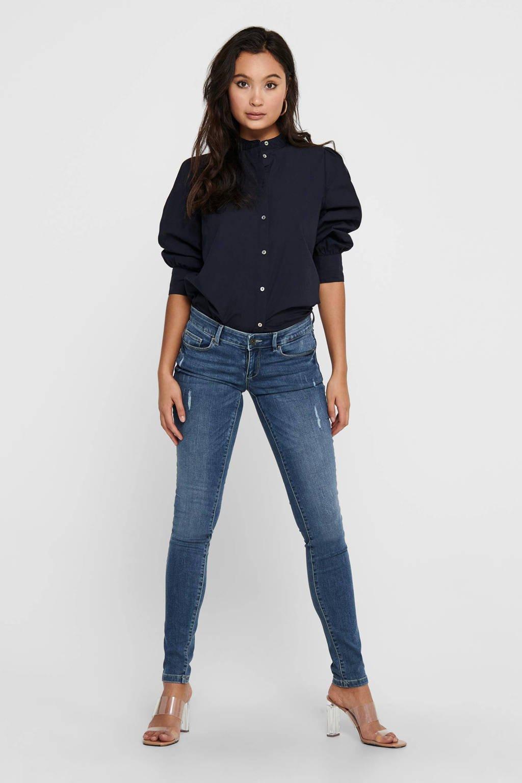 ONLY extra low waist skinny jeans ONLCORAL medium blue denim, Medium blue denim