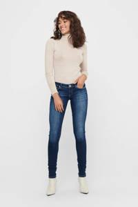 ONLY extra low waist skinny jeans ONLCORAL dark blue denim, Dark blue denim