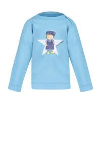 Fien & Teun sweater Mart met printopdruk lichtblauw, Lichtblauw