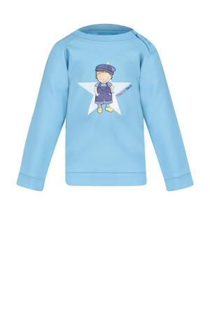 sweater Mart met printopdruk lichtblauw