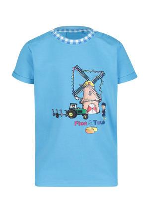 T-shirt Boet met printopdruk blauw