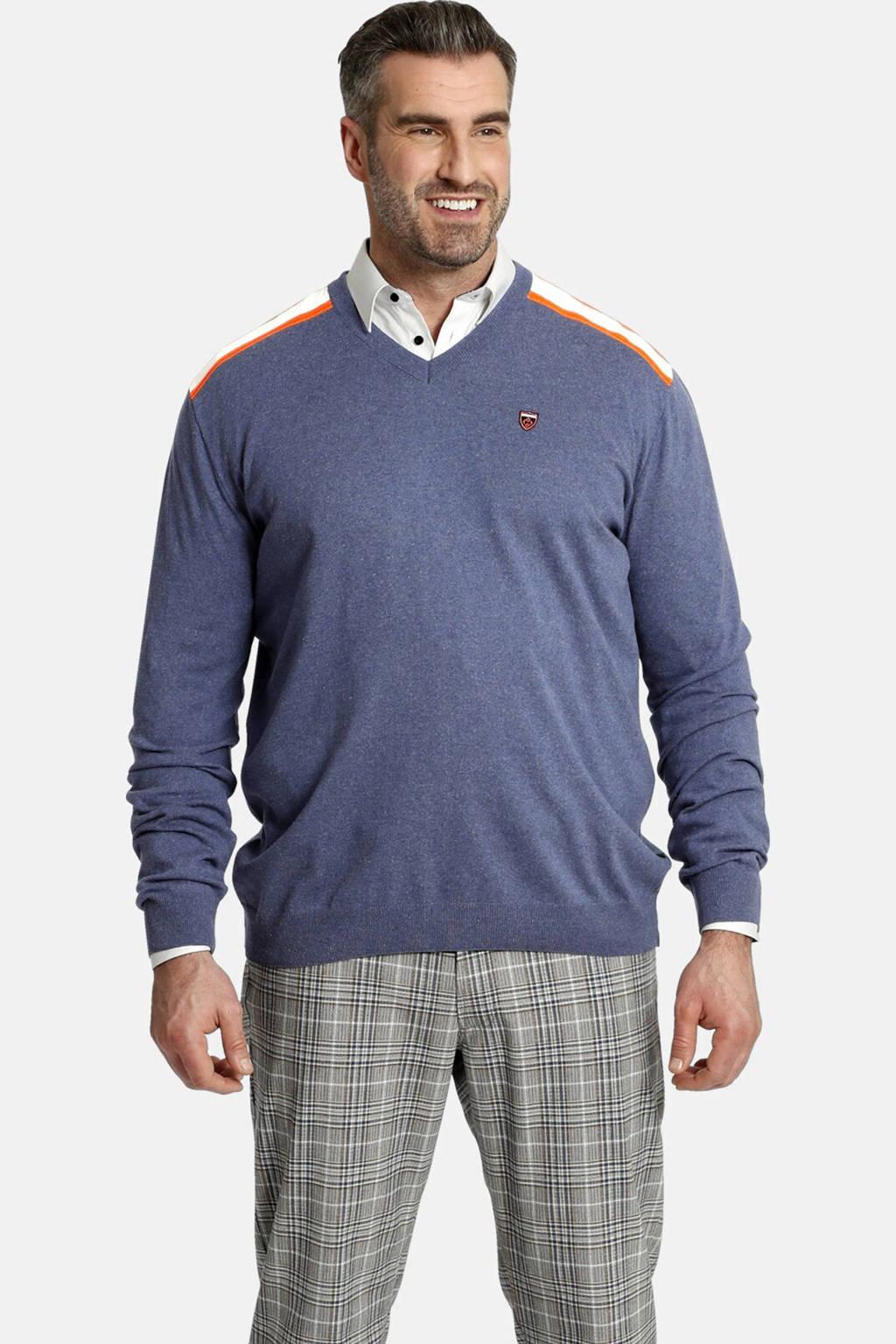 Charles Colby trui Plus Size Earl Perryn blauw, Blauw