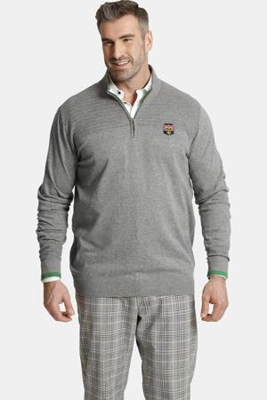 trui Plus Size met logo grijs
