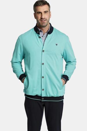 vest DUKE JAX Plus Size met logo turquoise