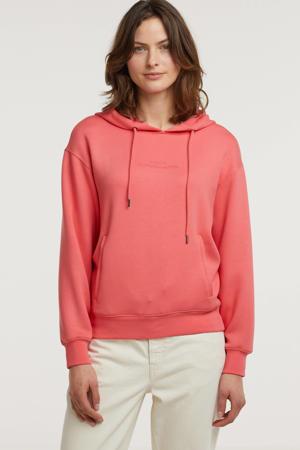 hoodie Ima met logo en borduursels roze