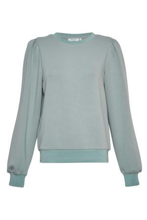 sweater Ima met plooien lichtgroen
