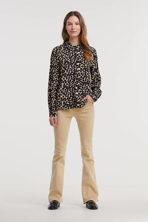 blouse Bahira Jalina met all over print zwart