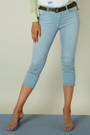 skinny capri jeans Ivana bleached blue denim