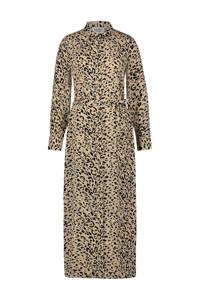 Another-Label blousejurk Adeleide met panterprint beige, Beige