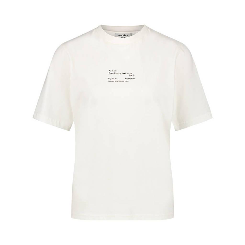 Another-Label T-shirt Botenical van biologisch katoen ecru, Ecru