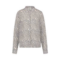 Another-Label blouse Zaron met all over print lichtgrijs/lichtblauw, Lichtgrijs/lichtblauw