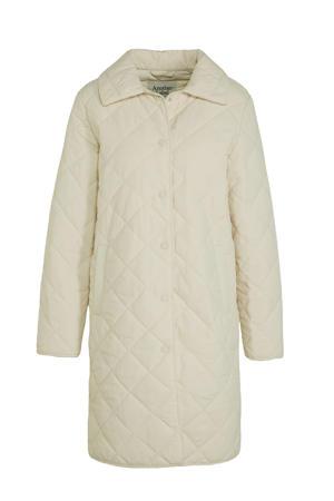 coat Danae van gerecycled polyester gebroken wit