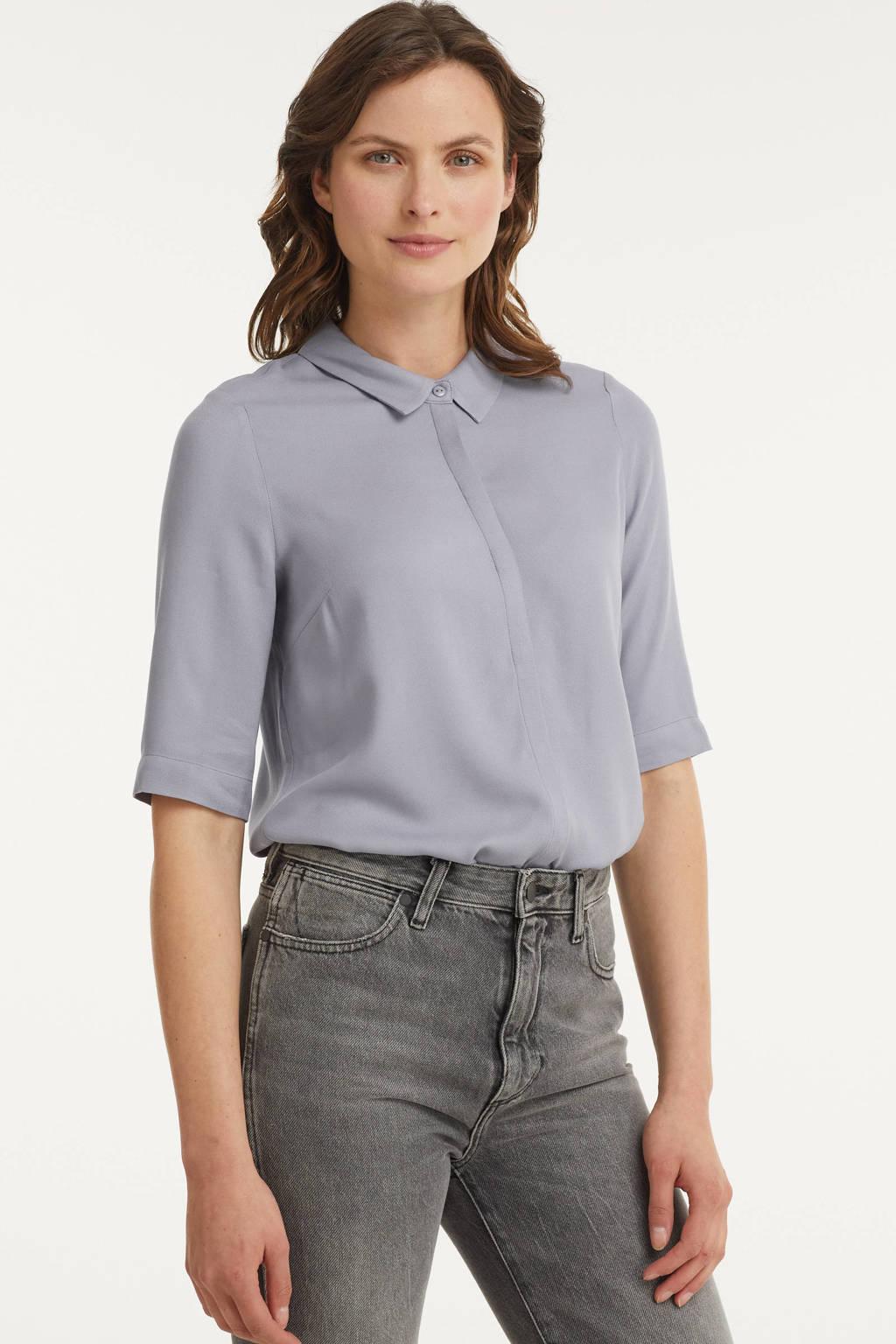 Another-Label blouse Bache lichtblauw, Lichtblauw