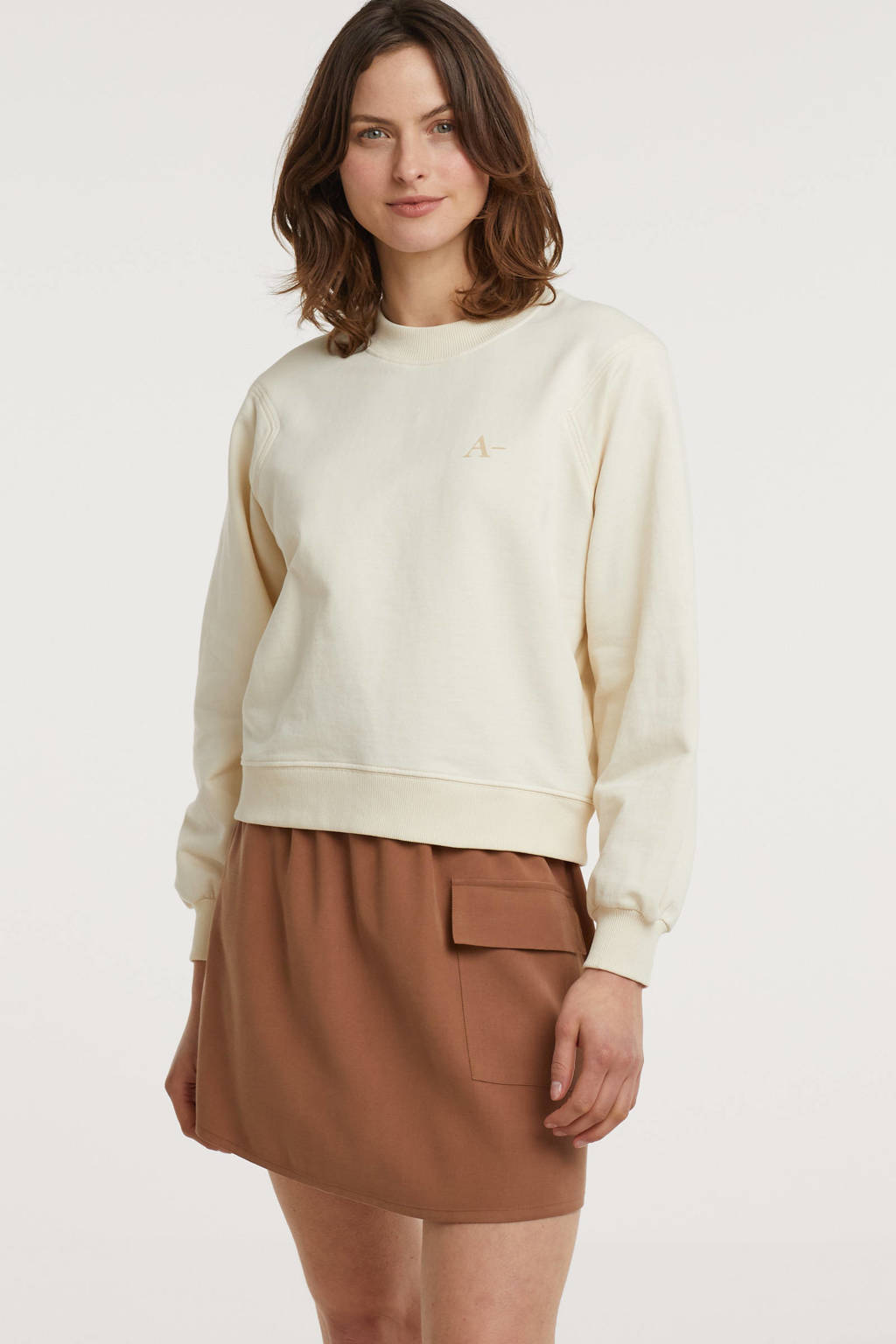 Another-Label trui A' beige, Beige
