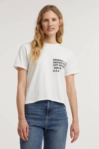 Kendall + Kylie T-shirt met tekst wit, Wit