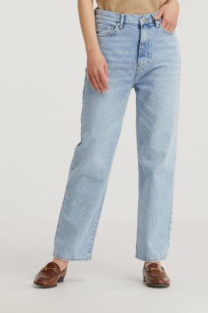 cropped wide leg jeans light wash