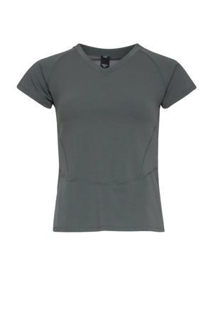 sport T-shirt olijfgroen