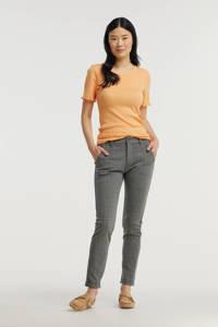 SisterS Point geruite slim fit pantalon antraciet, Antraciet