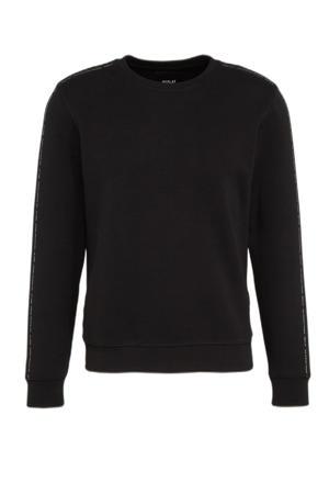 sweater met contrastbies black