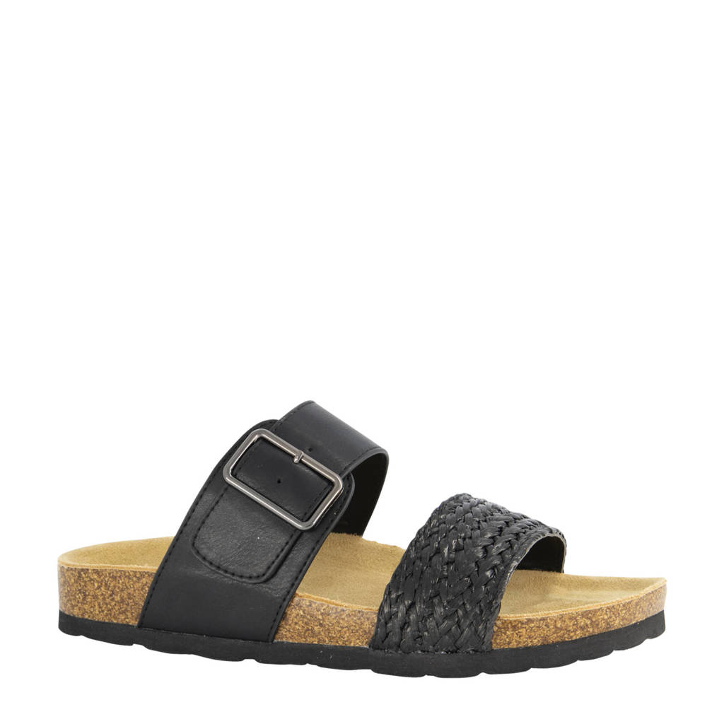 Graceland   slippers zwart, Zwart