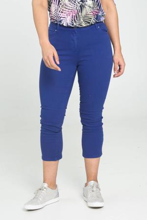 cropped skinny jeans blauw